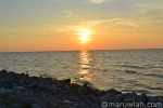 Sunset di pantai antara Mukah dan Sibu.
