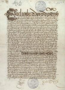 Muka Hadapan Salinan Portugis Perjanjian Tordesillas,